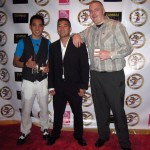 "with Leon, Ray, and Bo at the ""Hubris"" red carpet screening in L.A."